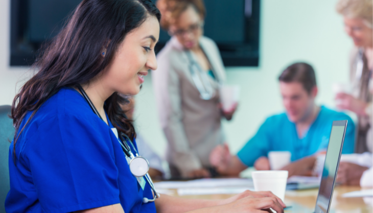 Medical staff with an EHR billing system for ICD-10 Codes