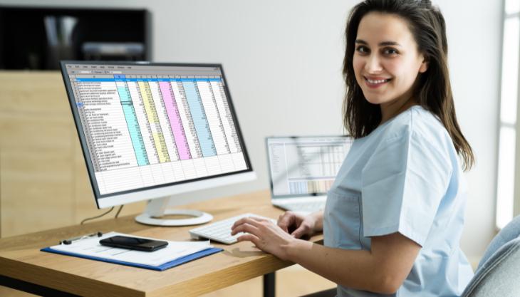 A Happy Medical Biller Effortlessly Using New E/M CPT Billing Codes
