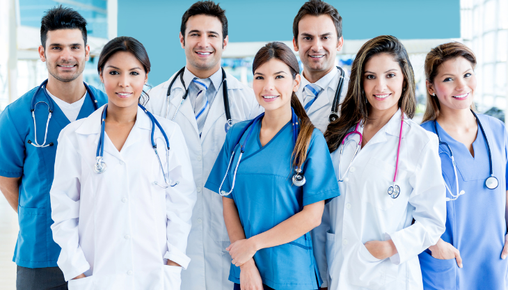 A medical team happy about a new, better EHR