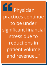 A Block Quote Discussing the Financial Losses Due to Reduced Patient Volume