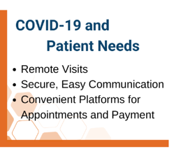 COVID-19 and Patient Needs