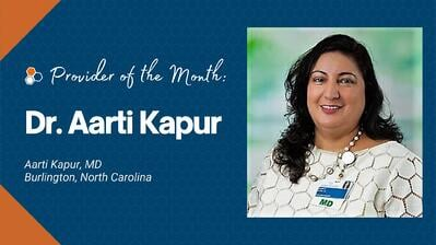 Dr Aarti Kapur Mental Health Collaborative Care - Provider of the Month