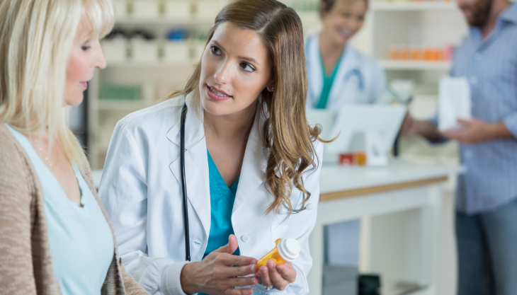 A Pharmacist Providing Medication Faster Due to EPCS
