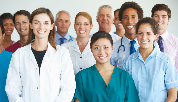 A happy medical team who has a great and efficient EHR