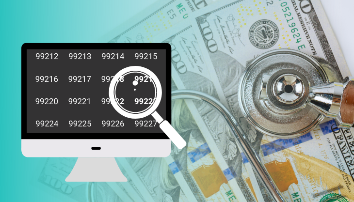 Money and a Stethoscope Showing the Additional Revenue Your Practice Can Bring in with a Bit of 2021 E&M Coding Advice