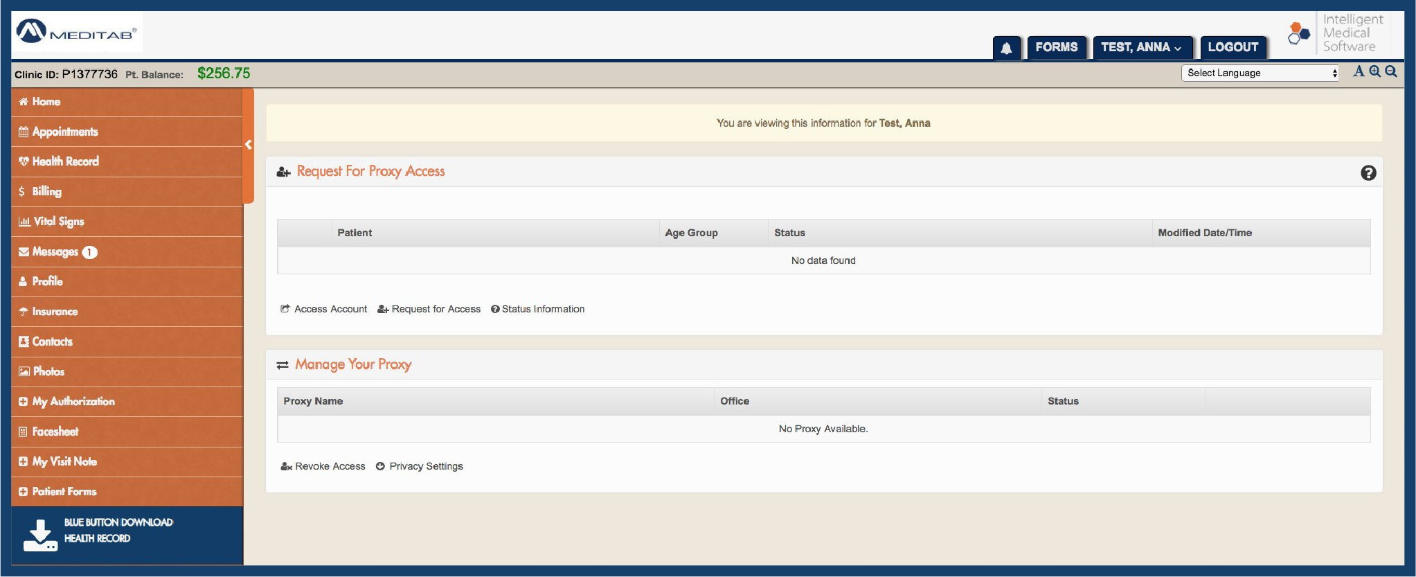 Proxy Access Portal