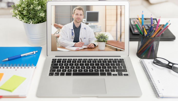 A Doctor on a Telehealth Session