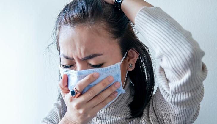 Patient suffering coronavirus symptoms