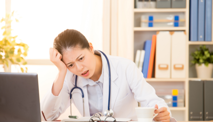 a medical provider frustrated with office inefficiency