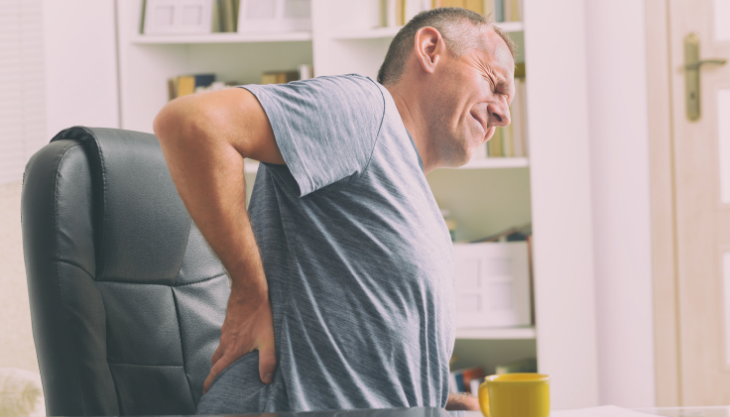Patient handling chronic back pain on his own