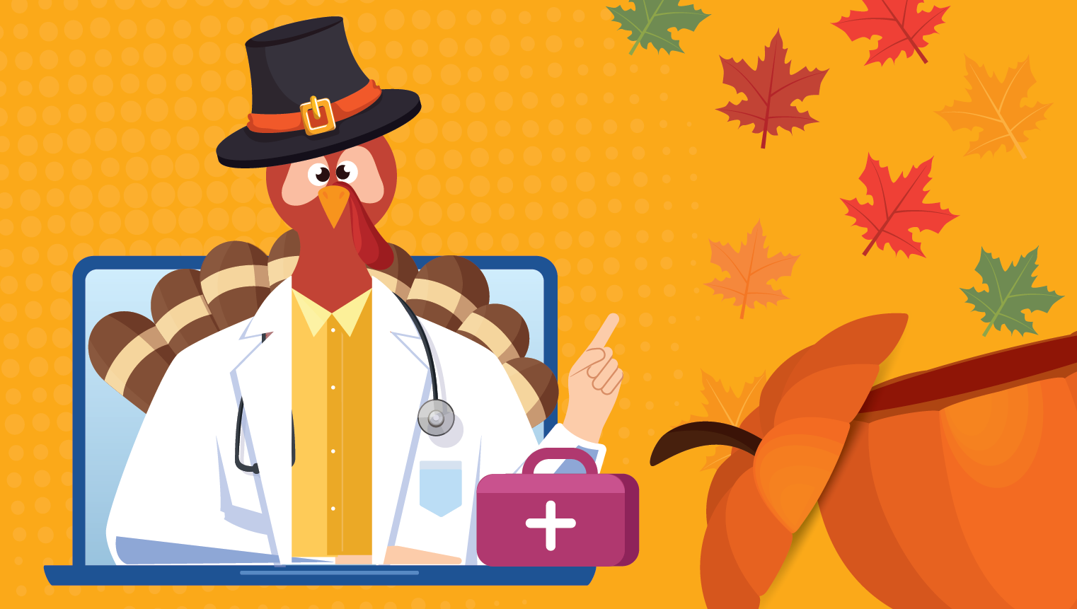 A Virtual Thanksgiving Celebration with a Turkey for a Doctor